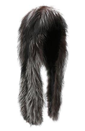Женская накидка из меха лисы KITON черно-белого цвета, арт. D50782X04T64 | Фото 1