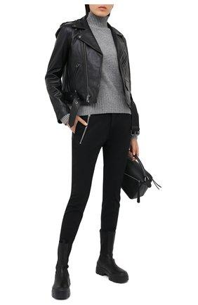 Женские шерстяные брюки DSQUARED2 черного цвета, арт. S75KB0152/S40320 | Фото 2