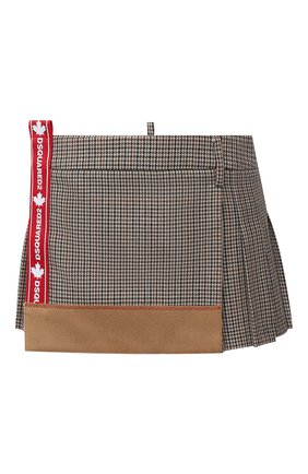 Женская шерстяная юбка DSQUARED2 бежевого цвета, арт. S75MA0748/S53030 | Фото 1