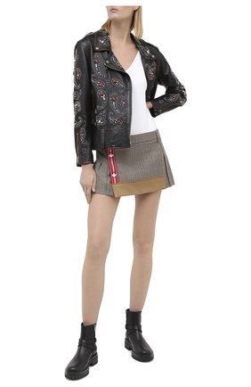 Женская шерстяная юбка DSQUARED2 бежевого цвета, арт. S75MA0748/S53030 | Фото 2