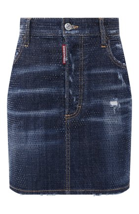 Женская джинсовая юбка DSQUARED2 синего цвета, арт. S75MA0751/S30342 | Фото 1