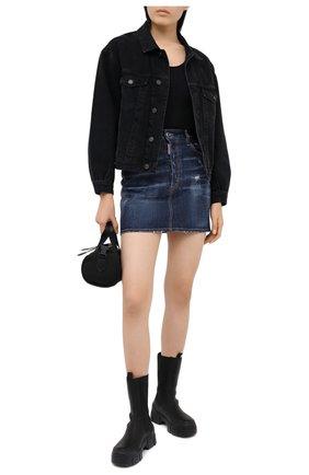 Женская джинсовая юбка DSQUARED2 синего цвета, арт. S75MA0751/S30342 | Фото 2