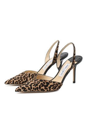 Женская кожаные туфли thandi 85 JIMMY CHOO леопардового цвета, арт. THANDI 85/L0P | Фото 1