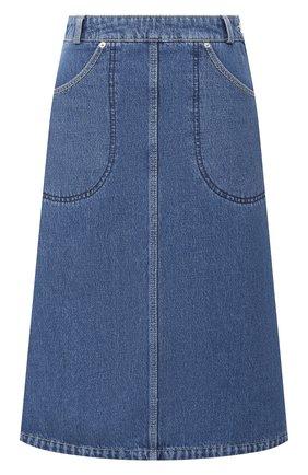 Женская джинсовая юбка KENZO синего цвета, арт. FA62DJ2576EA | Фото 1