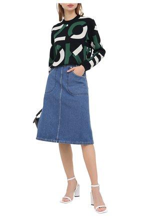 Женская джинсовая юбка KENZO синего цвета, арт. FA62DJ2576EA | Фото 2