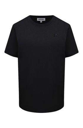 Женская хлопковая футболка KENZO черного цвета, арт. FA62TS9104SK | Фото 1