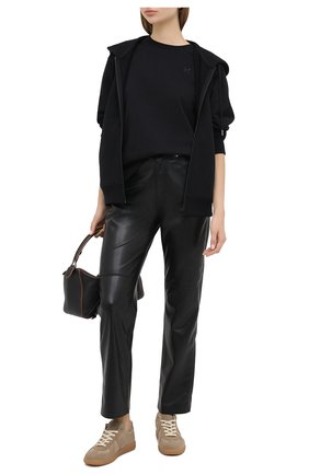 Женская хлопковая футболка KENZO черного цвета, арт. FA62TS9104SK | Фото 2