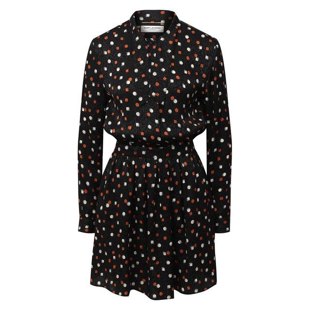 Шелковое платье Saint Laurent