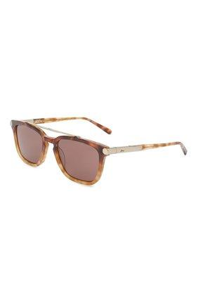 Мужские солнцезащитные очки BRIONI светло-коричневого цвета, арт. 0DC500/P3ZAC | Фото 1