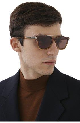 Мужские солнцезащитные очки BRIONI светло-коричневого цвета, арт. 0DC500/P3ZAC | Фото 2