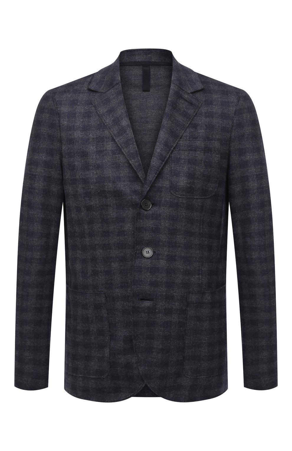 Мужской шерстяной пиджак HARRIS WHARF LONDON синего цвета, арт. C8B33MGK | Фото 1
