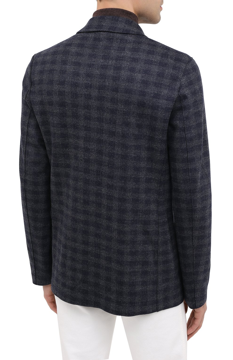 Мужской шерстяной пиджак HARRIS WHARF LONDON синего цвета, арт. C8B33MGK | Фото 4