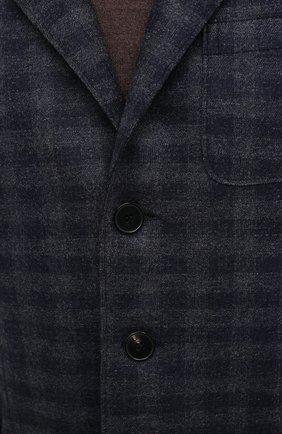 Мужской шерстяной пиджак HARRIS WHARF LONDON синего цвета, арт. C8B33MGK | Фото 5
