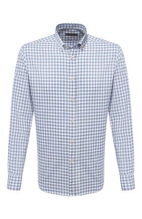 Мужская хлопковая рубашка CORNELIANI голубого цвета, арт. 86P120-0811571/00 | Фото 1