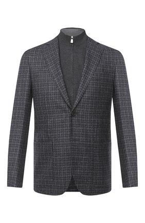 Мужской шерстяной пиджак CORNELIANI темно-серого цвета, арт. 86X528-0816318/90 | Фото 1