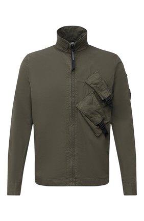 Мужская хлопковая рубашка C.P. COMPANY хаки цвета, арт. 09CMSH141A-002824G | Фото 1