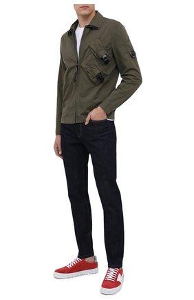 Мужская хлопковая рубашка C.P. COMPANY хаки цвета, арт. 09CMSH141A-002824G | Фото 2