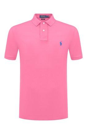 Мужское хлопковое поло POLO RALPH LAUREN розового цвета, арт. 710536856 | Фото 1