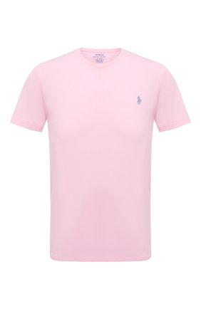 Мужская хлопковая футболка POLO RALPH LAUREN светло-розового цвета, арт. 710671438 | Фото 1