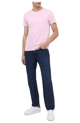 Мужская хлопковая футболка POLO RALPH LAUREN светло-розового цвета, арт. 710671438 | Фото 2