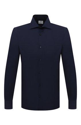Мужская хлопковая сорочка LUIGI BORRELLI темно-синего цвета, арт. DR08/LUCIAN0/TS30035 | Фото 1