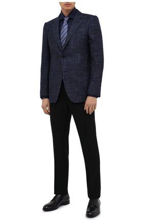 Мужская хлопковая сорочка LUIGI BORRELLI темно-синего цвета, арт. DR08/LUCIAN0/TS30035 | Фото 2