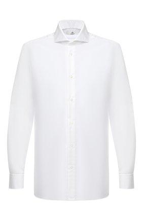 Мужская хлопковая сорочка LUIGI BORRELLI белого цвета, арт. EV08/FELICE/TS30035   Фото 1
