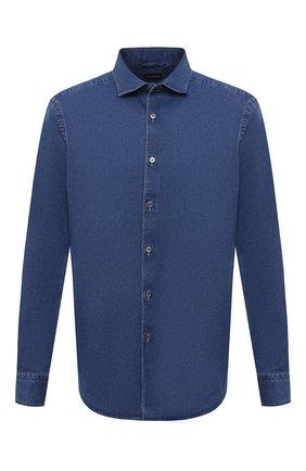 Мужская джинсовая рубашка ERMENEGILDO ZEGNA синего цвета, арт. UVX28/SRF5 | Фото 1