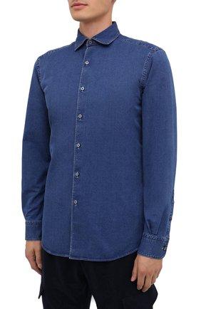 Мужская джинсовая рубашка ERMENEGILDO ZEGNA синего цвета, арт. UVX28/SRF5 | Фото 3