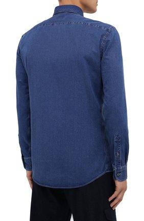 Мужская джинсовая рубашка ERMENEGILDO ZEGNA синего цвета, арт. UVX28/SRF5 | Фото 4