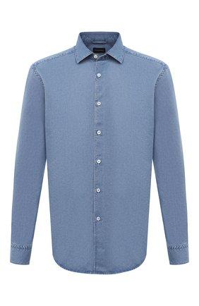 Мужская джинсовая рубашка ERMENEGILDO ZEGNA голубого цвета, арт. UVX28/SRF5 | Фото 1