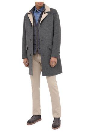 Мужская джинсовая рубашка ERMENEGILDO ZEGNA голубого цвета, арт. UVX28/SRF5 | Фото 2