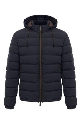 Мужская пуховая куртка ERMENEGILDO ZEGNA темно-синего цвета, арт. UVT35/V107B   Фото 1