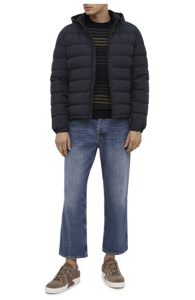 Мужская пуховая куртка ERMENEGILDO ZEGNA темно-синего цвета, арт. UVT35/V107B   Фото 2
