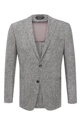 Мужской шерстяной пиджак Z ZEGNA серого цвета, арт. 854745/1VRUG0 | Фото 1