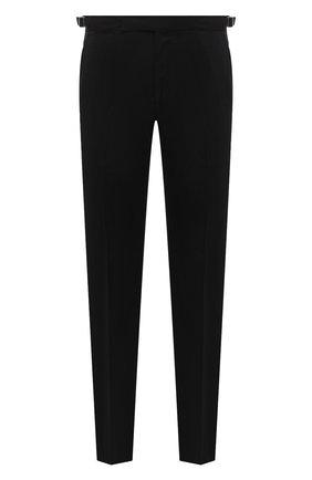 Мужские шерстяные брюки ERMENEGILDO ZEGNA черного цвета, арт. 830F09/75F812 | Фото 1
