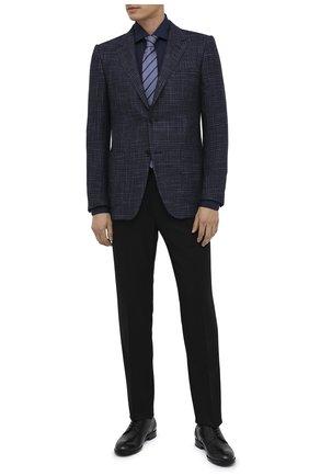 Мужские шерстяные брюки ERMENEGILDO ZEGNA черного цвета, арт. 830F09/75F812 | Фото 2