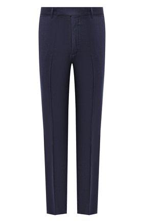 Мужские шерстяные брюки ERMENEGILDO ZEGNA синего цвета, арт. 811F03/75SB12 | Фото 1
