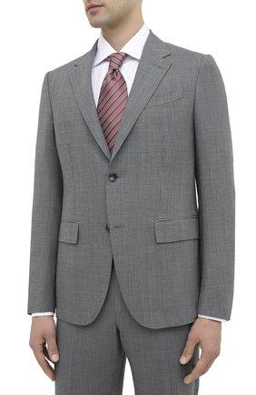 Мужской шерстяной костюм ERMENEGILDO ZEGNA серого цвета, арт. 822602/20PWKL | Фото 2