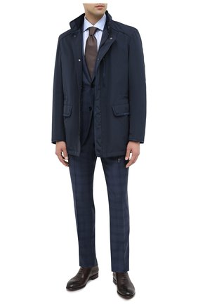 Мужской шерстяной костюм ERMENEGILDO ZEGNA синего цвета, арт. 822501/221225 | Фото 1