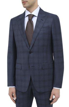 Мужской шерстяной костюм ERMENEGILDO ZEGNA синего цвета, арт. 822501/221225 | Фото 2