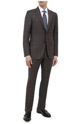 Мужской костюм шерсти и шелка ERMENEGILDO ZEGNA коричневого цвета, арт. 816540/221225 | Фото 1