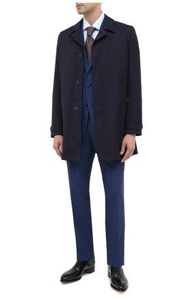 Мужская хлопковая сорочка ERMENEGILDO ZEGNA голубого цвета, арт. 801501/9MS0BR | Фото 2
