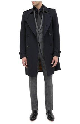 Мужская хлопковая сорочка ERMENEGILDO ZEGNA черного цвета, арт. 801069/9MS0BR | Фото 2