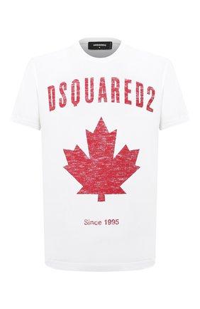 Мужская хлопковая футболка DSQUARED2 белого цвета, арт. S74GD0706/S22427 | Фото 1