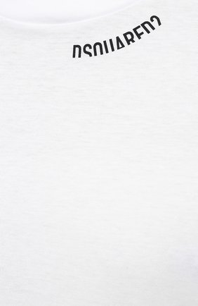 Мужская хлопковая футболка DSQUARED2 белого цвета, арт. S74GD0719/S22427   Фото 5