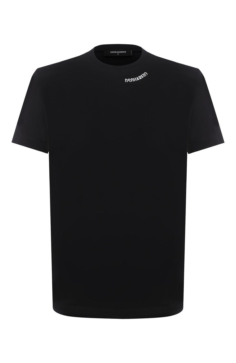 Мужская хлопковая футболка DSQUARED2 черного цвета, арт. S74GD0719/S22427 | Фото 1