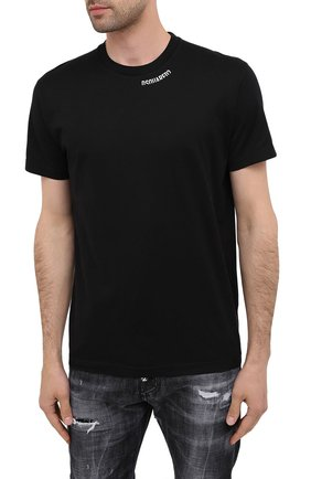 Мужская хлопковая футболка DSQUARED2 черного цвета, арт. S74GD0719/S22427 | Фото 3