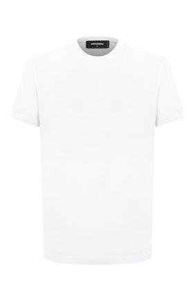 Мужская хлопковая футболка DSQUARED2 белого цвета, арт. S74GD0747/S22844 | Фото 1