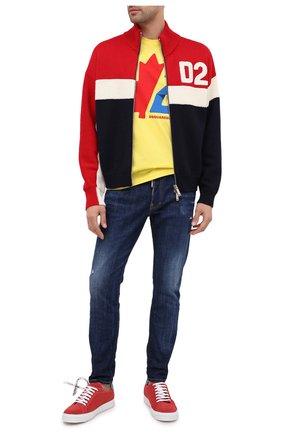 Мужская хлопковая футболка DSQUARED2 желтого цвета, арт. S74GD0756/S22427 | Фото 2